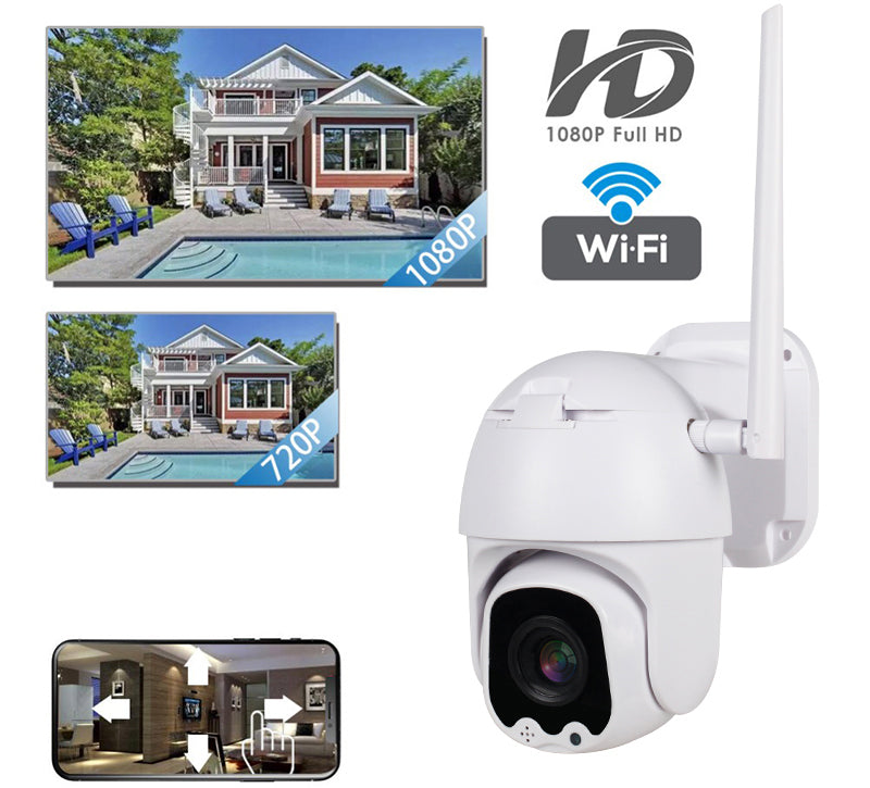 V380 2MP HD 1080P PTZ  4X Zoom 25FPS H265 Night Vision P2P Motion Detection Outdoor IP Dome  WiFi Camera