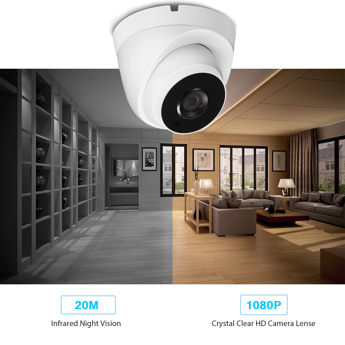 V380 5.0MP Ultra HD 1080P Onvif  H.265 CCTV Indoor  IP Camera