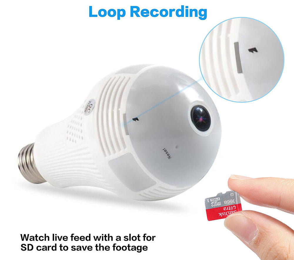 V380 Bulb Light 3.6mm HD Onvif Wireless Camera