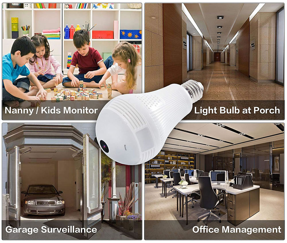 V380 Bulb Light HD IP Camera