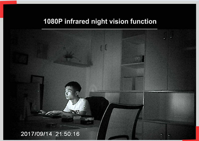 V380 HD 1080P 6 infrared night lights Loop Recording Baby Monitor Court Mini Video Camera