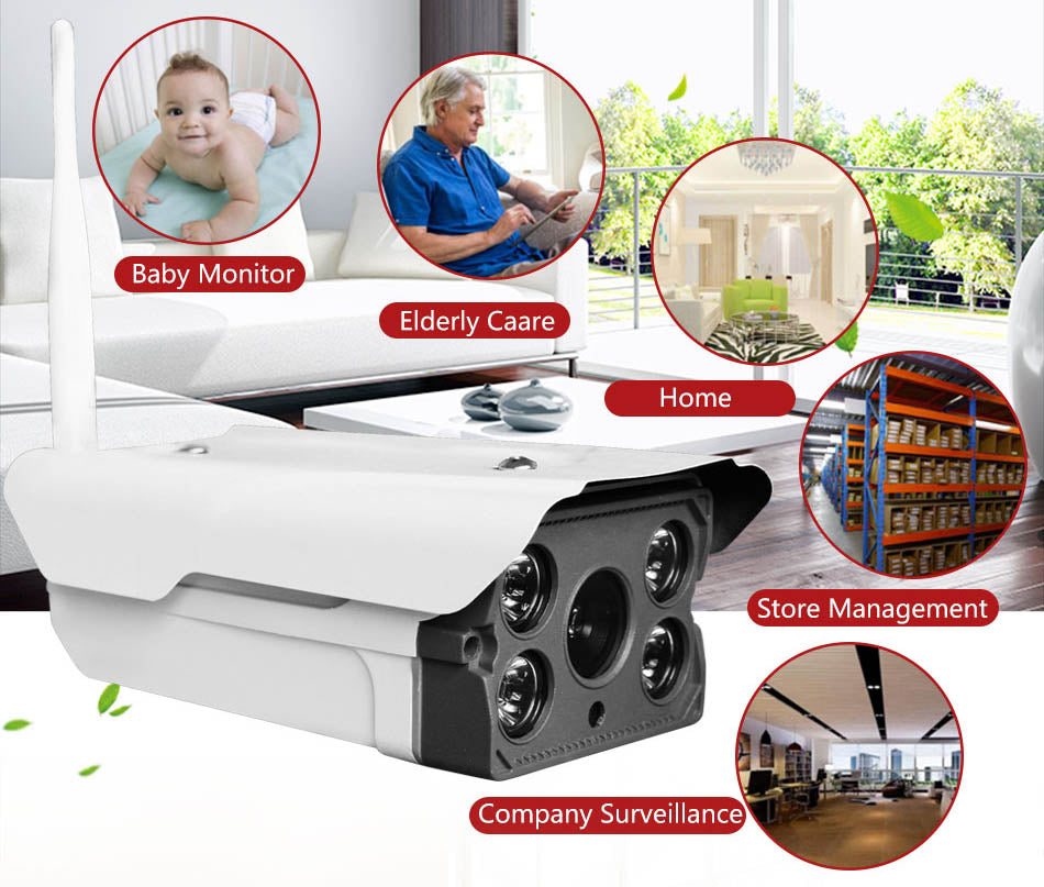 V380 Wireless Mobile 1080P Outdoor Panoramic IP Camera Support 128GB MicroSD Card