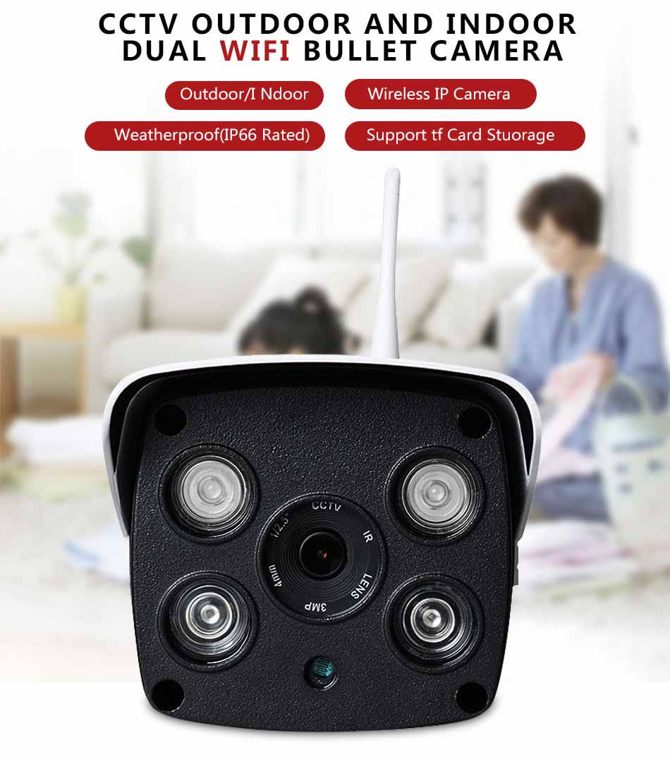 V380 Digital Zoom Wireless Smart Phone Outdoor Camera