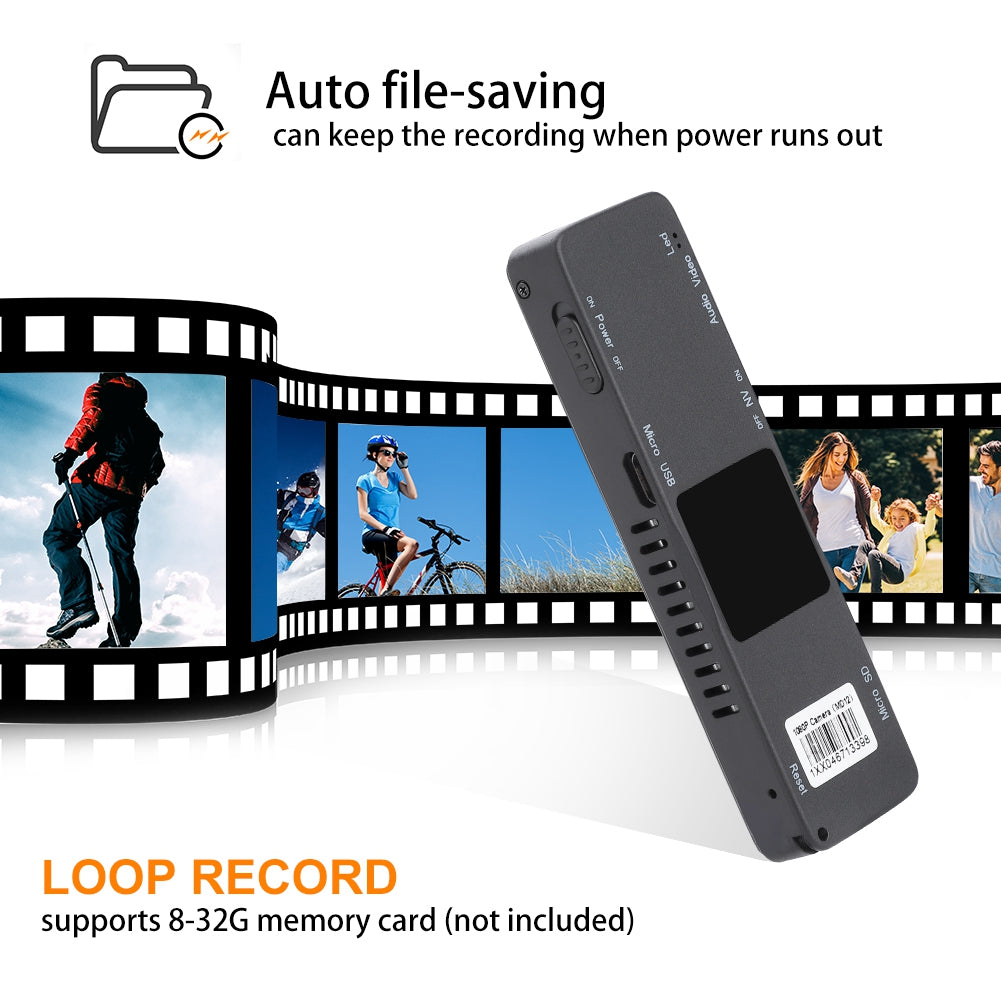 V380 Voice & Video Recorder 1080P HD Portable Mini Mounts Clip Kit Mini Camcorder  Security Camera