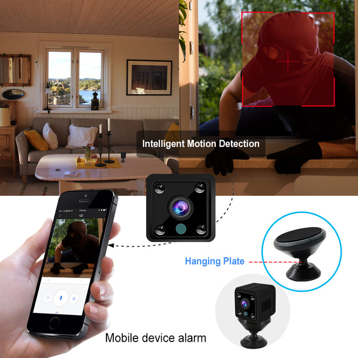 V380 Mini Camera 1080P WIFI HD Camcorder IP Camera Sensor Night Vision Remote Monitor