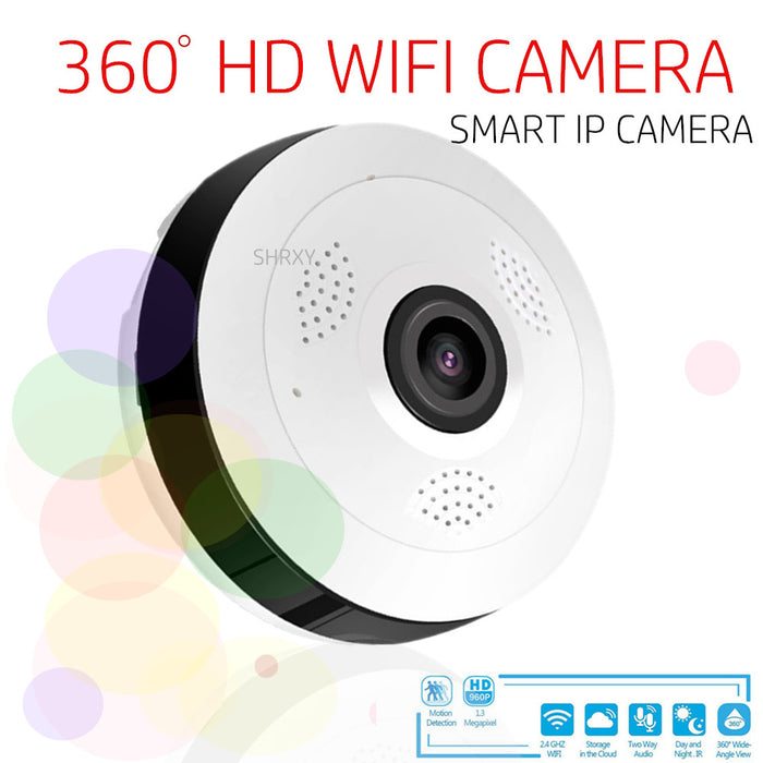 V380 1080P 360 Wide Angle MINI  Camera Wireless Fisheye Lens Security Home WIFI IP Camera