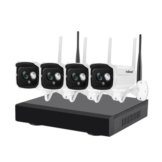 4-Channel CCTV Wireless NVR Network Video Recorder Indoor Outdoor Home Security Camera System - V380 Camera