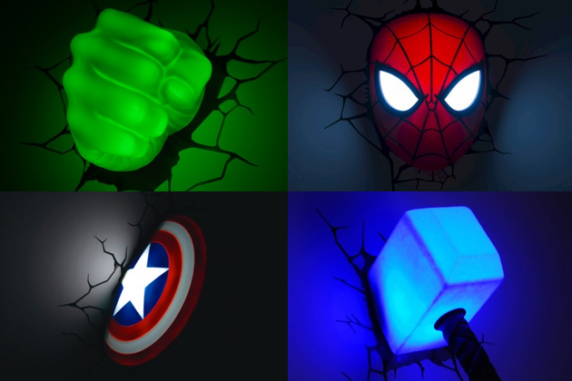 Marvel superhero 3d wall light i tec world marvel superhero 3d wall light i tec world aloadofball Images