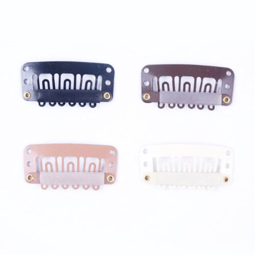 50 pcs Medium U Shaped Snap Clips For Hair Extensions