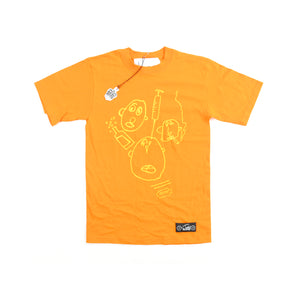 DEADSTOCK LONDON BOLLOCKS T-SHIRT IN ORANGE BY JUDY BLAME