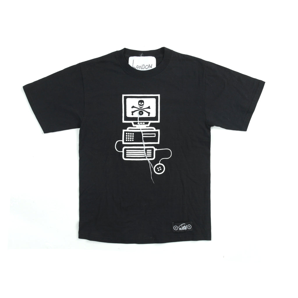 DEADSTOCK LONDON BOLLOCKS T-SHIRT IN BLACK BY JUDY BLAME