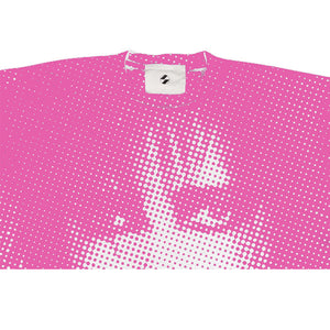 "The Salvages ""Siouxsie"" Hand Screened OS T-Shirt in Fluorescent Pink"