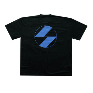 The Salvages Royal Blue Reflective Logo Black OS T-Shirt