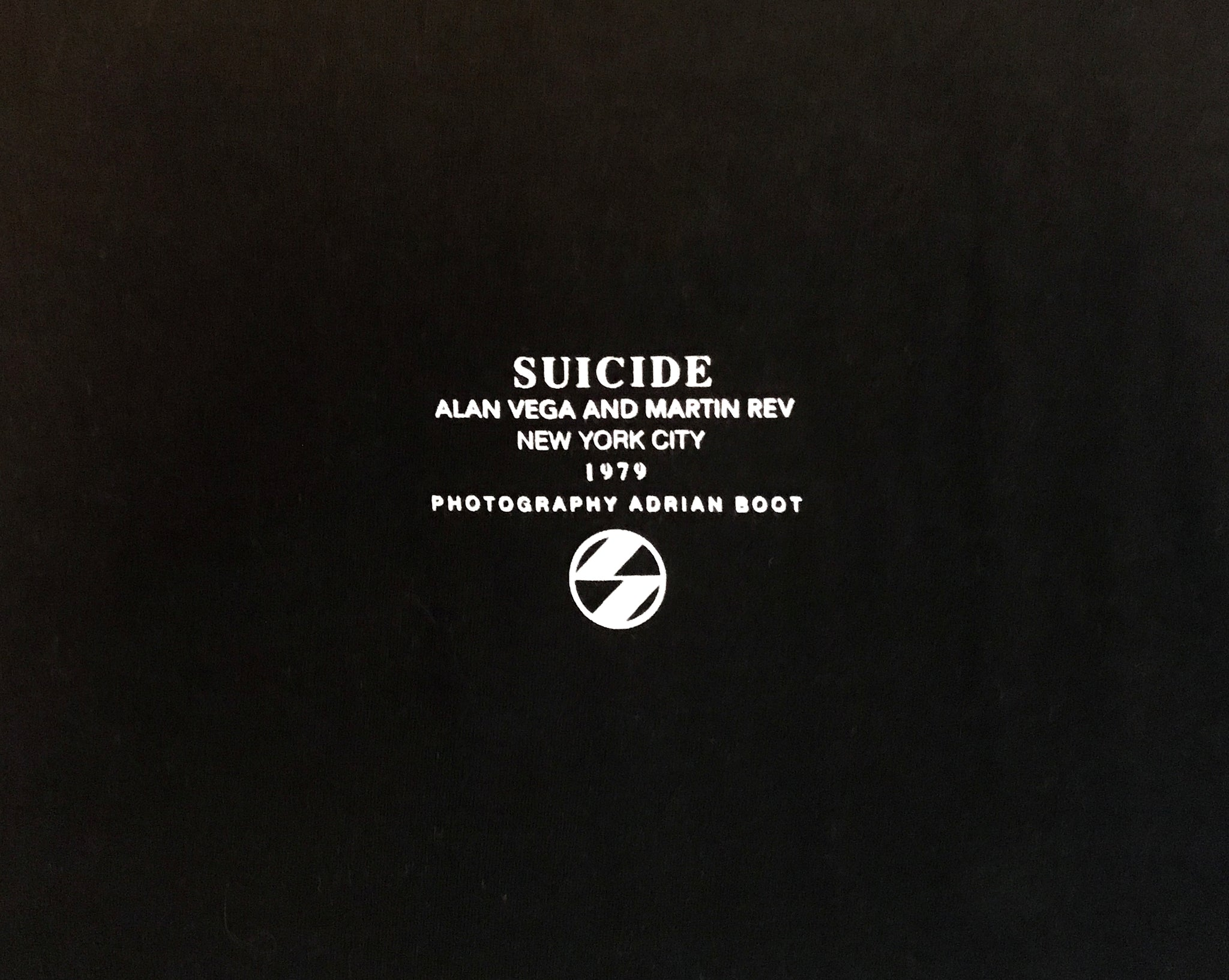 "The Salvages x Martin Rev ""Suicide NYC 1979"" OS T-Shirt"
