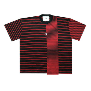 The Salvages Reconstructed Black/Red Stripe OS T-Shirt