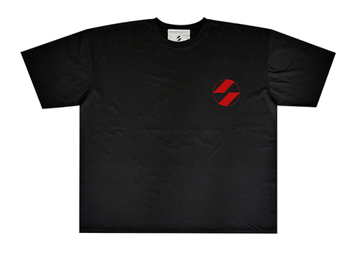 The Salvages Red Logo Black OS T-shirt