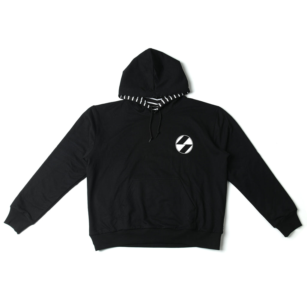 The Salvages 'REVERSO' Logo OS Hoodie (Black)