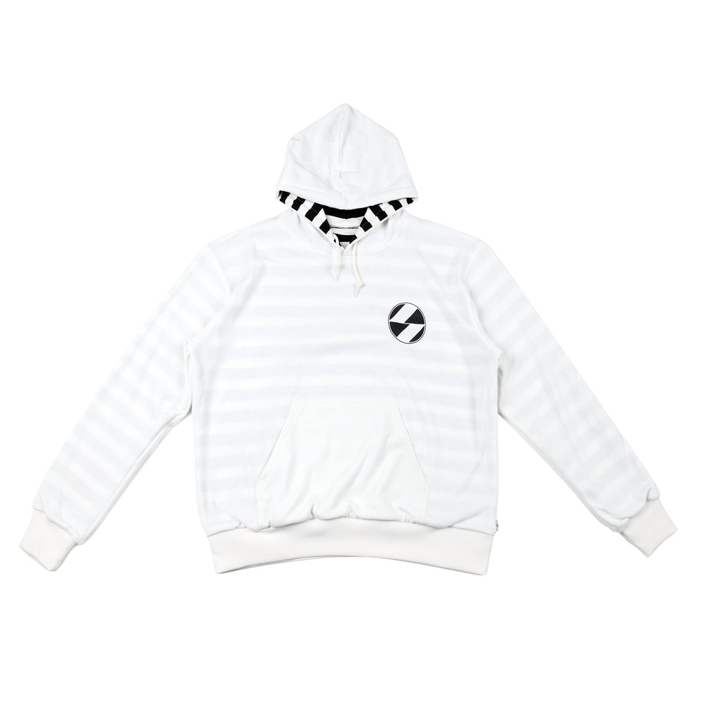 The Salvages 'REVERSO' Logo OS Hoodie (White)