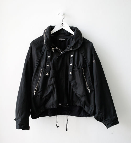 S/S06 'Icarus Surgit' Black Mini Parachute Bomber with a Detachable Collar by Raf Simons