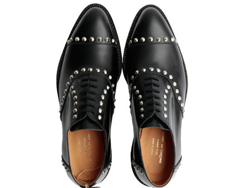 Black Studded Leather Brogue by Comme des Garçons Homme Plus