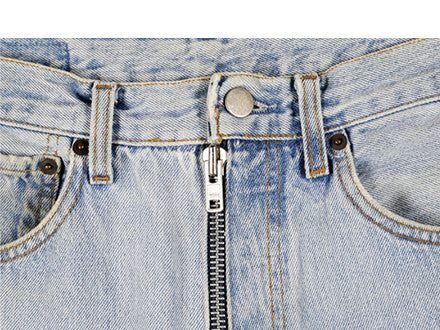 Vintage Artisanal Denim Jeans With Exposed Zips by Martin Margiela