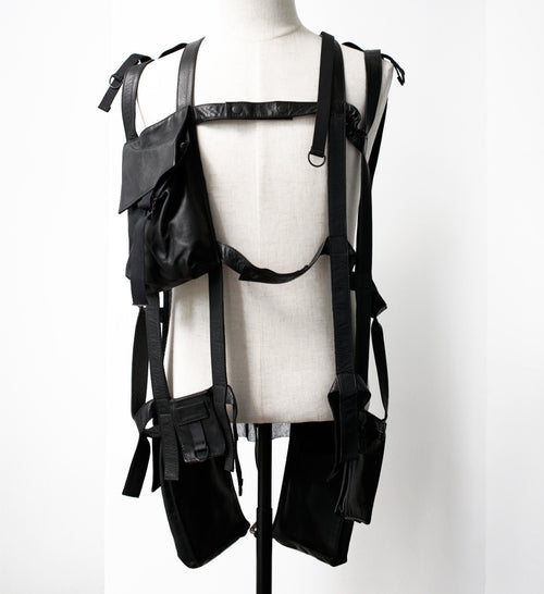 S/S03 'Consumed' Military Leather Harness by Raf Simons