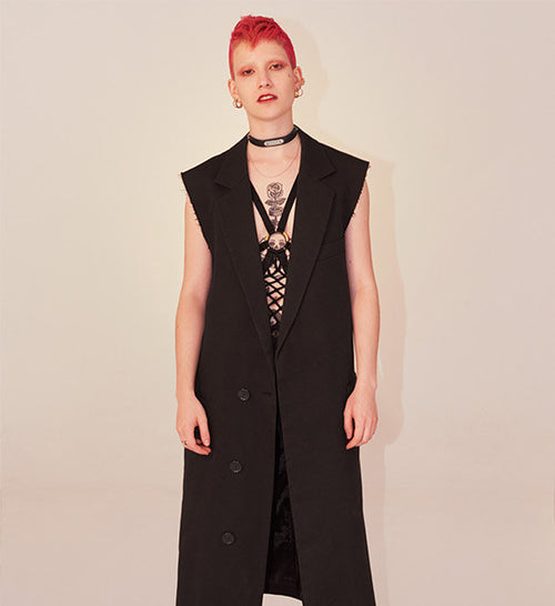 "S/S99 ""Kinetic Youth"" Long Sleeveless Coat by Raf Simons"