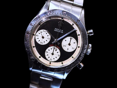Vintage 1968 Rolex Paul Newman Daytona 6239 with Black 3 Color Dial