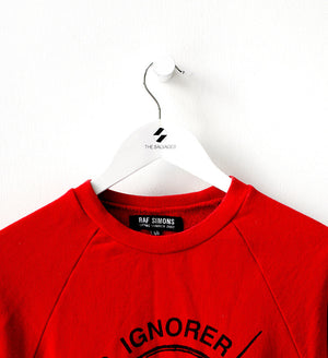 S/S 2002 'Woe onto those who spit on the fear generation… The wind will blow it back' Crew Sweatshirt by Raf Simons