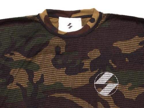 The Salvages Woodland Camouflage Logo OS T-Shirt with Net