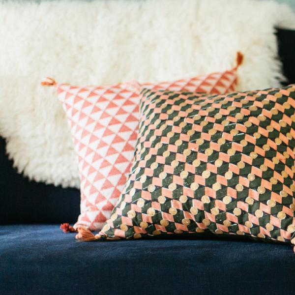 Alice Cushion Cover Terracotta