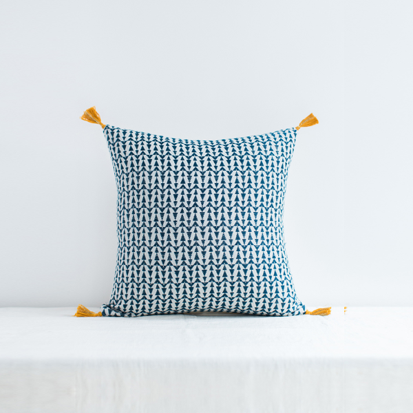 Ashu Cushion Cover Blue