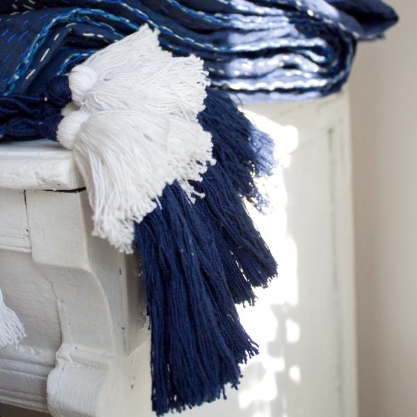 Shibori Midnight Blue