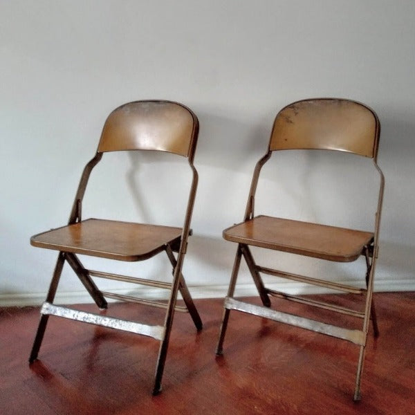 Mid-century folding chairs - RESERVED