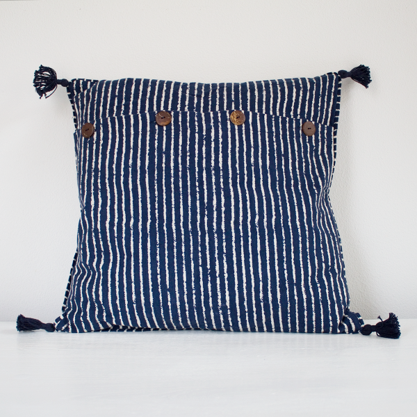 Mabelle II Cushion Cover Dark Blue