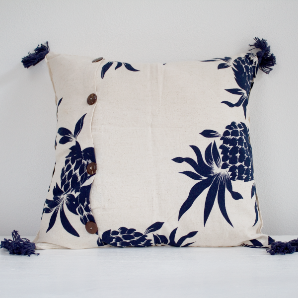 Mabelle III Cushion Cover Dark Blue