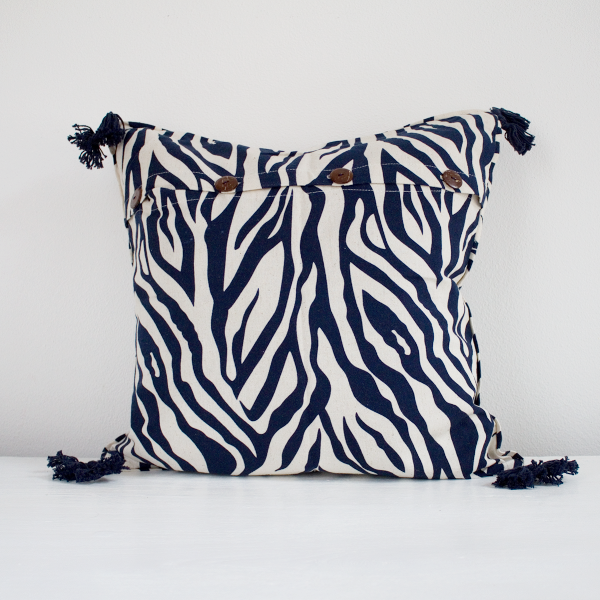 Mabelle Cushion Cover Dark Blue