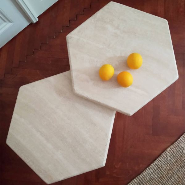 Travertine tables - RESERVED