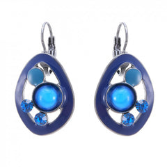 Amelie Blue enamel earrings