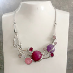 Pink & Lilac Berry Necklace