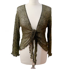 Black and gold sparkly shrug