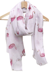 Flamingo Scarf- Flamingos pashmina wrap