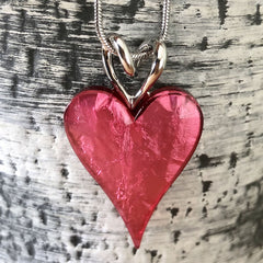 Resin heart in pink