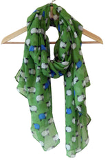 Sheep Scarf- Chiffon wrap pashmina with sheep print