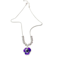 purple poppy pendant necklace