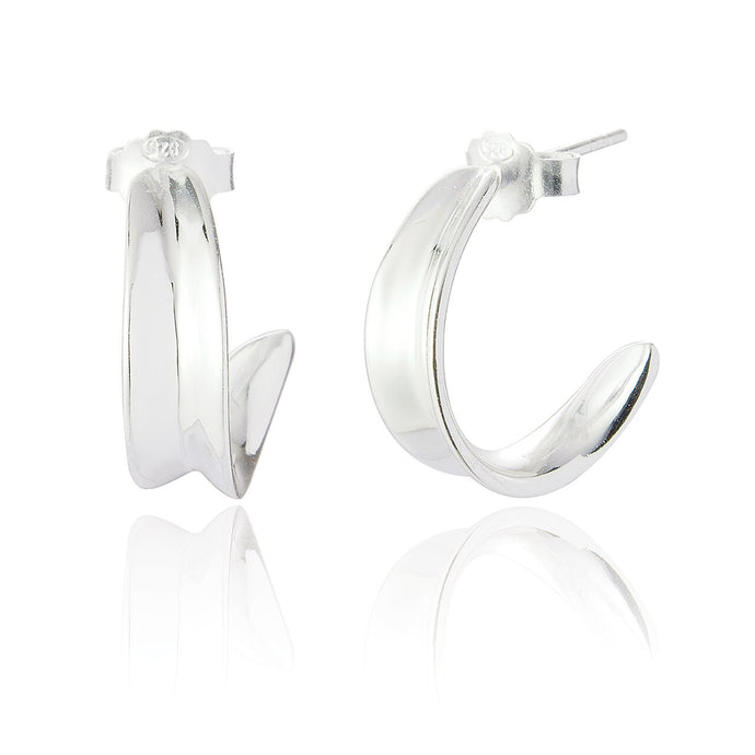 Angelie Hoop Earrings - Sterling Silver