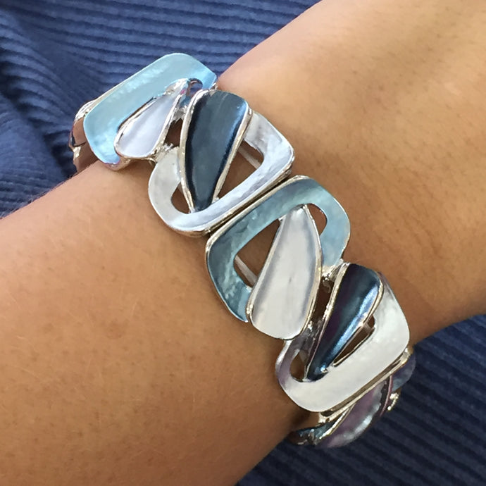 Abstract Blue Bangle