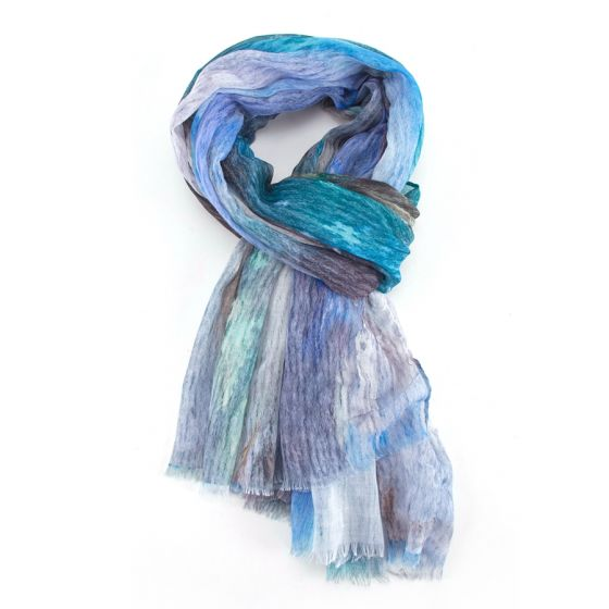 Teal Abstract Scarf