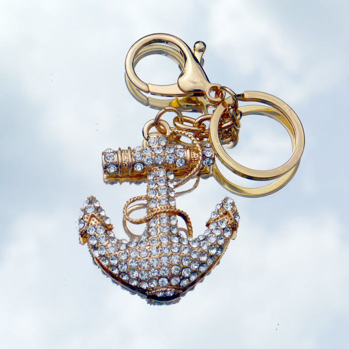 Anchor Keyring Diamante