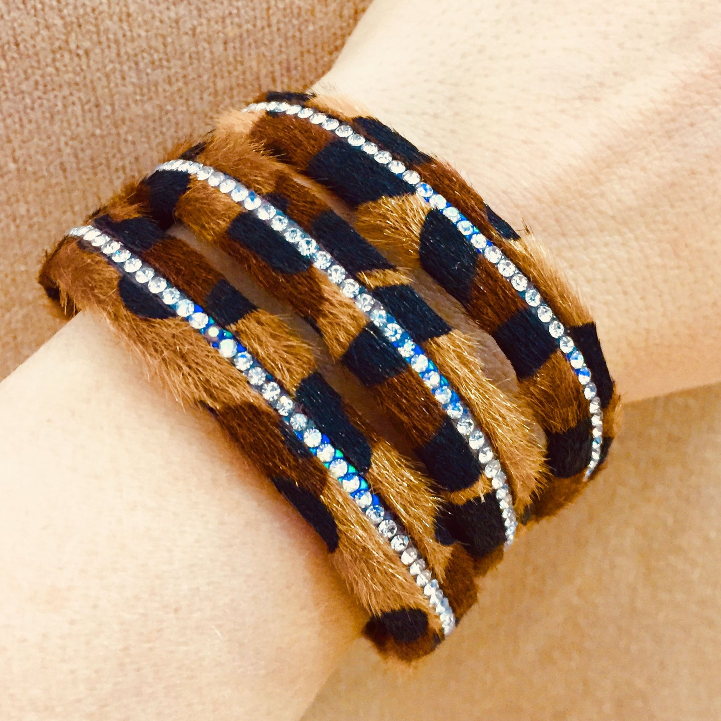 Brown Animal Print Bangle